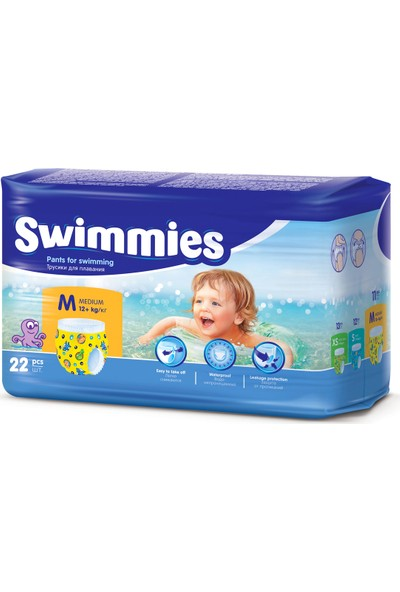 Swimmies Mayo Bebek Bezi Medium 12+ kg 2 Paket 22'li