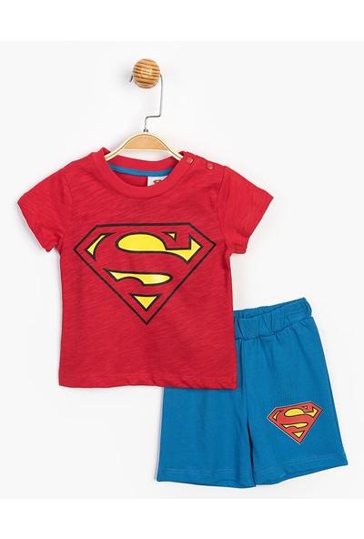 Vitrinmixmini Lisanslı Süperman Erkek Çocuk Şort Takım
