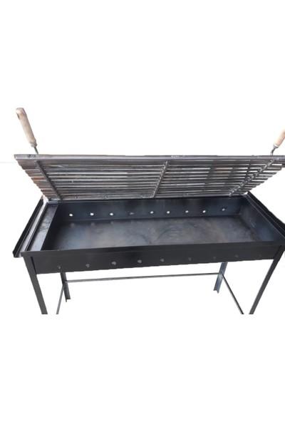 İklim 40X100 cm Demir Mangal Barbekü Oluklu Izgara