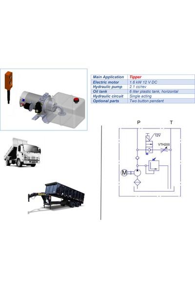 Hydro-Pack Damperler Için Hidrolik Mini Güç Ünitesi