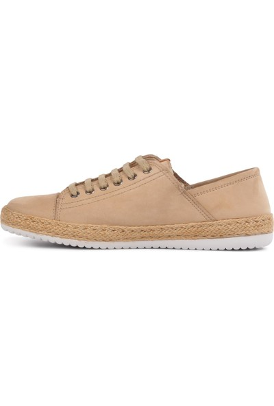 Free Foot 121 Kum Nubuk Hakiki Deri Kadın Günlük Ayakkabı