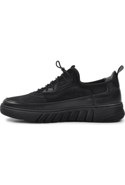 James Franco 5791 Siyah-Nubuk Hakiki Deri Erkek Casual Ayakkabı