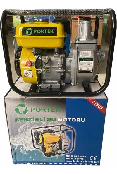 Portek 2 Inc 5.5 Hp Benzinli Su Motoru Pompası