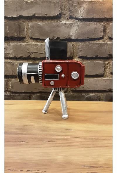 Pınarstore 3 Ayaklı Eskitmeli Nostaljik Kumbara Masaüstü Kamera Saat