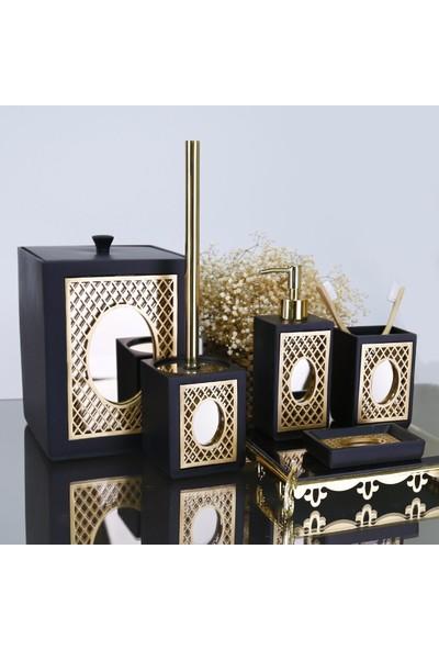 Selim Diamond Banyo Seti Siyah-Altın