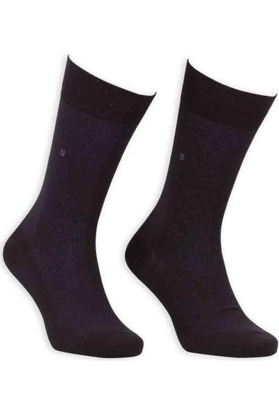 Bordo Bambu Dikişsiz Erkek Çorap EBK1001 | Siyah