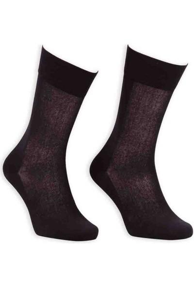 Bordo Cotton Dikişsiz Erkek Çorap SM31007-01 | Siyah