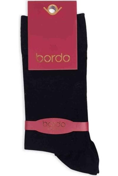 Bordo Bambu Dikişsiz Erkek Çorap GBK1002 | Siyah