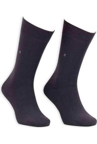 Bordo Bambu Dikişsiz Erkek Çorap EBK1003 | Füme