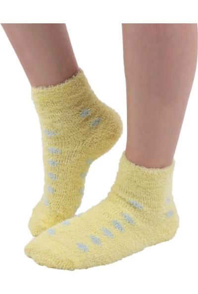 Sahab Kadın Peluşlu Patik Çorap 48500 | Sarı