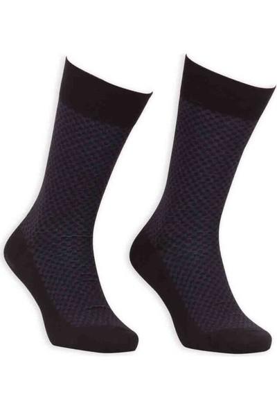 Bordo Bambu Dikişsiz Erkek Çorap EBK1001-1 | Siyah