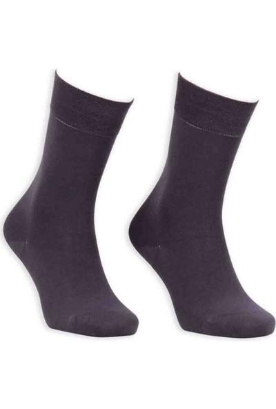 Bordo Bambu Dikişsiz Erkek Çorap GBK1003 | Füme