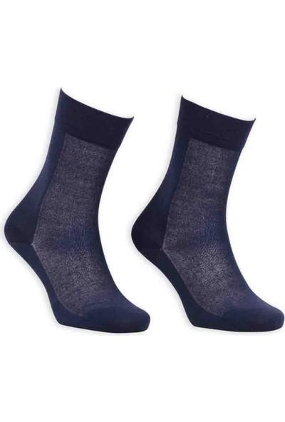 Bordo Cotton Dikişsiz Erkek Çorap SM31007-05   Lacivert