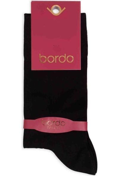 Bordo Bambu Dikişsiz Erkek Çorap GBK1001 | Siyah