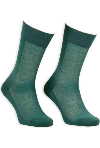 Bordo Cotton Dikişsiz Erkek Çorap SM31007-24 | Yeşil