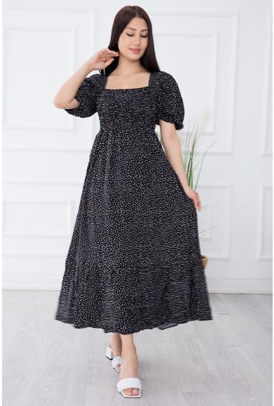 Kalopya Kadın Dokuma Gipeli Maxi Elbise 2698