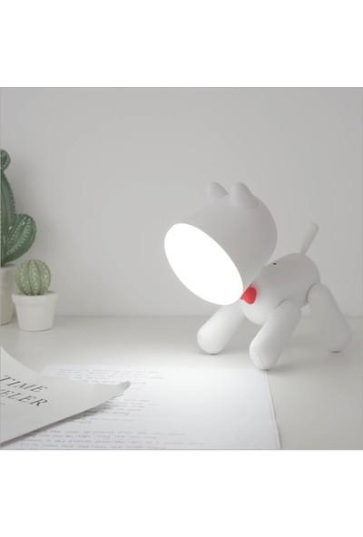 Orijinaldükkan Özel Tasarım Waggy Puppy Köpek Şarjlı Gece Masa Lambası LED Işıklı 2 Kademeli