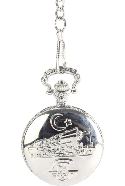 Pierre Rucci Tren Desenli Kapaklı Cep Saati