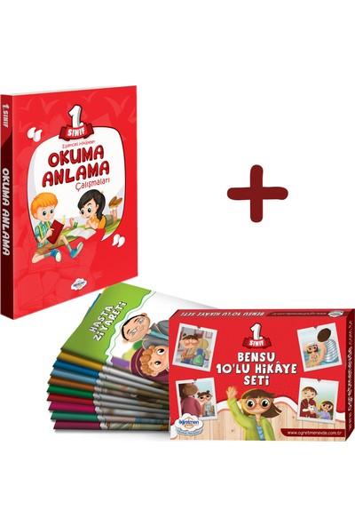 Öğretmen Evde Yayınları 1. Sınıf Okuma Anlama Kitabı - Bensu 10'lu Hikaye Kitabı Seti -