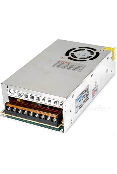 Wozlo Wozlo Adaptör 12V 20A Metal Kasa 12 Volt 20 Amper Şerit LED Güvenlik Kamerası Adaptörü