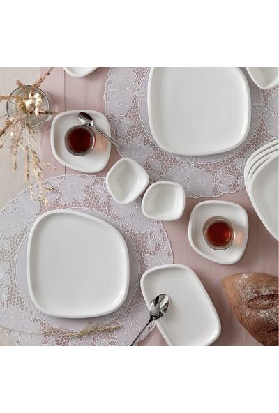 Karaca Lena 26 Parça 6 Kişilik Kahvaltı Seti Beyaz