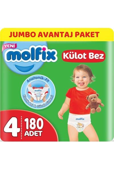 Molfix Külot Bebek Bezi Beden:4 (9-14 kg) Maxi 180 Adet Jumbo Avantaj Paketi