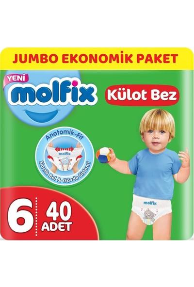 Molfix Külot Bebek Bezi Beden:6 (15+Kg) Extra Large 40 Adet Jumbo Ekonomik Pk