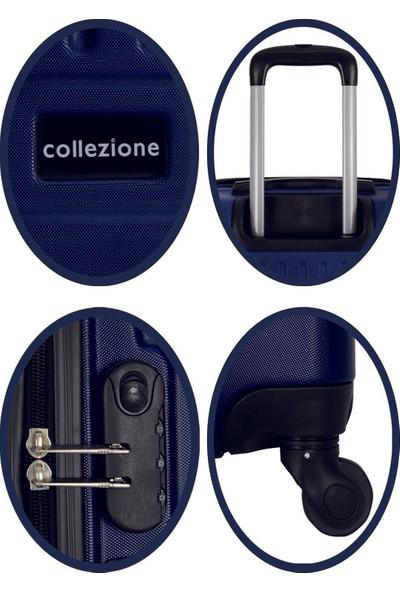 Collezione Lacivert 2 Li Büyük Boy + Orta Bot Set Valiz