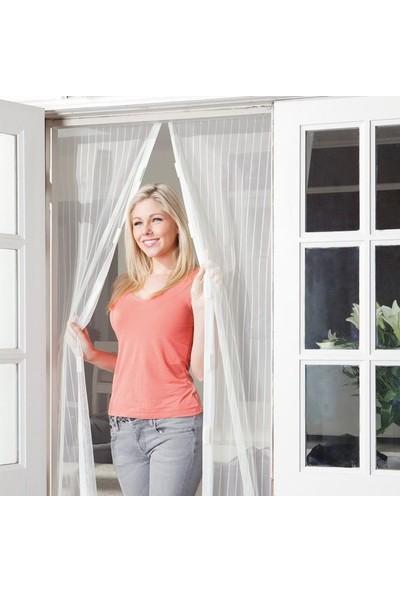 River World Riverworld Pratik Manyetik Mıknatıslı Beyaz Kapı Pencere Sinekliği Tülü 90 x 210 cm