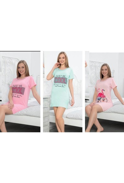 Trendmağaza Kadın Yazlık 3'lü Pijama Takımı