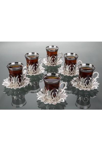 Busem Ahsen Çay Seti Gümüş Çay Seti