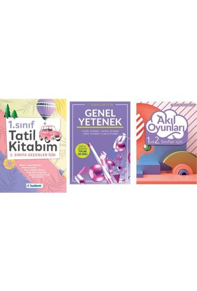 Tudem 1. Sınıf Tatil Kitabım - Genel Yetenek - Akıl Oyunları 3 Kitap