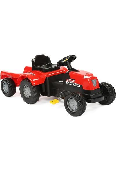 Jusso Pedallı Römorklu Traktör - Kırmızı