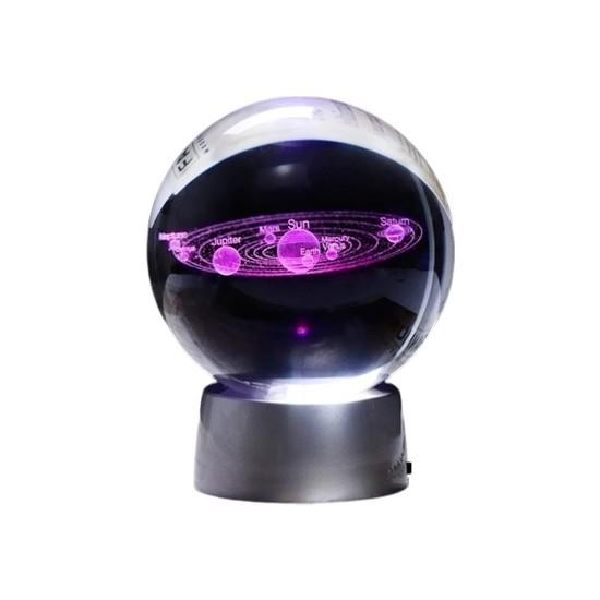 Mini Dünyam Güneş Sistemi Işıklı Cam Küre