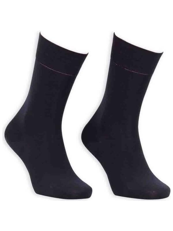 Bordo Bambu Dikişsiz Erkek Çorap GBK1002   Siyah