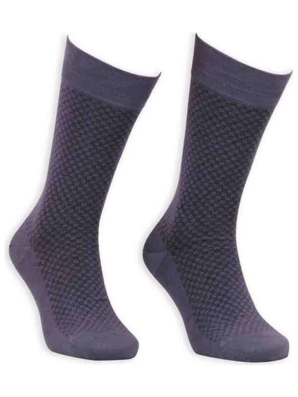 Bordo Bambu Dikişsiz Erkek Çorap EBK1004   Füme