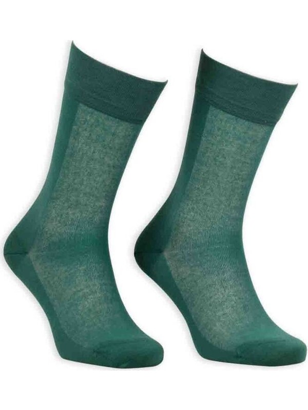 Bordo Cotton Dikişsiz Erkek Çorap SM31007-24   Yeşil
