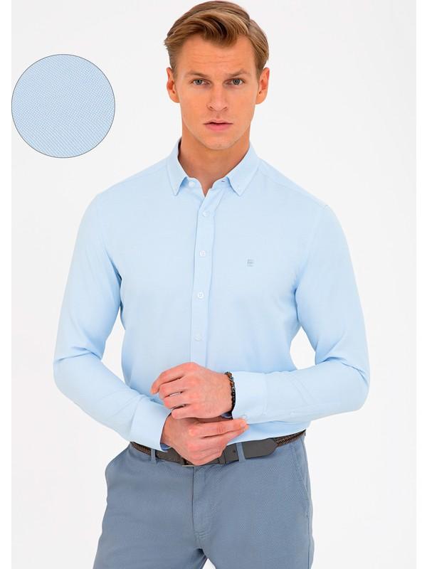 Pierre Cardin Açık Mavi Slim Fit Gömlek 50240379-VR003
