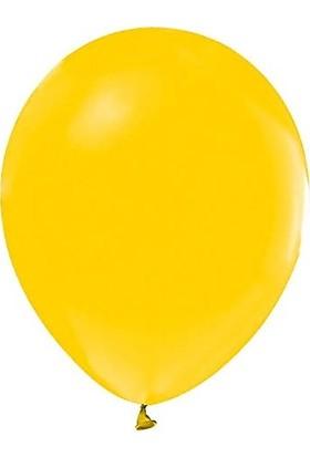 Balonevi Sarı Renkli Baskısız 12'' Balon 100'LÜ