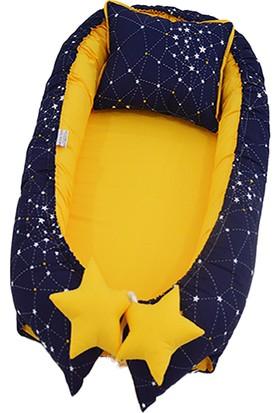 Modastra Sarı Lacivert Galaksi Desen Babynest