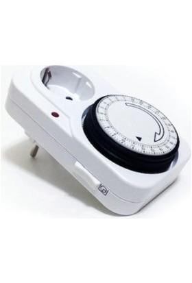 Cata Zaman Ayarlı Mekanik Priz   Cata Zaman Saati (CT-9180)