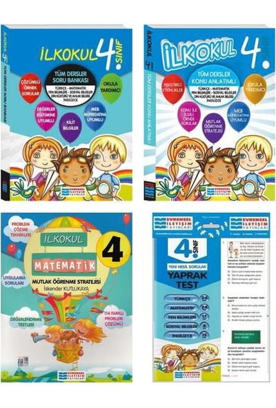 Evrensel Yayınları 4. Sınıf Tüm Dersler Konu Anlatımı Soru Bankası Matematik ve Yaprak Test Seti