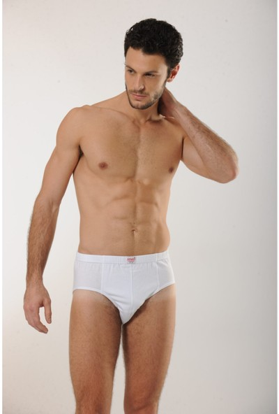 Hmd 200 6'lı Pamuklu Slip Erkek Külot - Beyaz