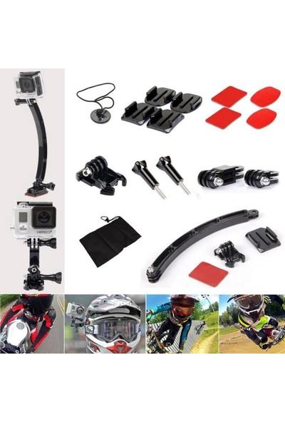 Generic Spor Kamera Motosiklet Kaskı Montaj Ayağı Setleri Bisiklet Binme Gopro 8 7 6 5 4 Aksesuarlar (Yurt Dışından)