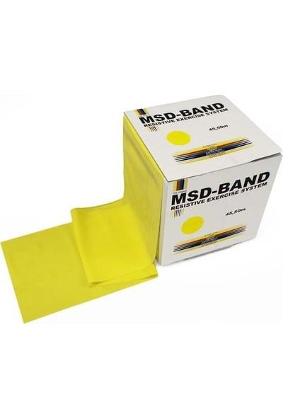 MSD Msd-Band Egzersiz Pilates Bandı Hafif Direnç Lastiği Sarı 150CM