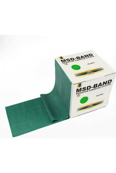 MSD Msd-Band Egzersiz Pilates Orta Sert Direnç Lastiği Yeşil 150CM