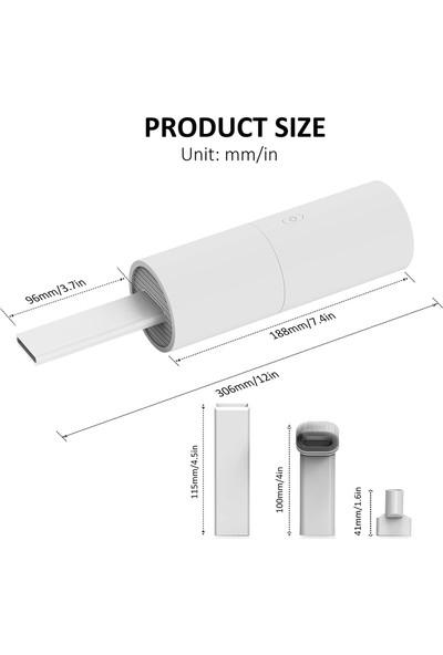 Bebay Mini Portable Vacum Cleaner Şarjlı Süpürge (Beyaz)