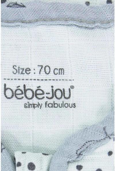 Bebe Jou Yazlık Bebek Uyku Tulumu 0.7 Tog Bambu Müslin 70 cm Torba Tulum Mint