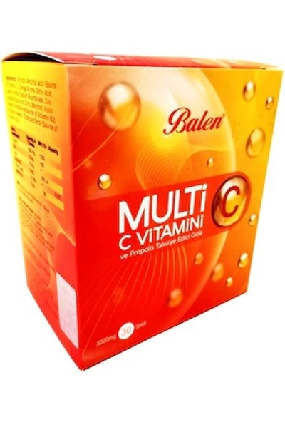 Balen Multi C Vitamini ve Propolis Takviye Edici Gıda