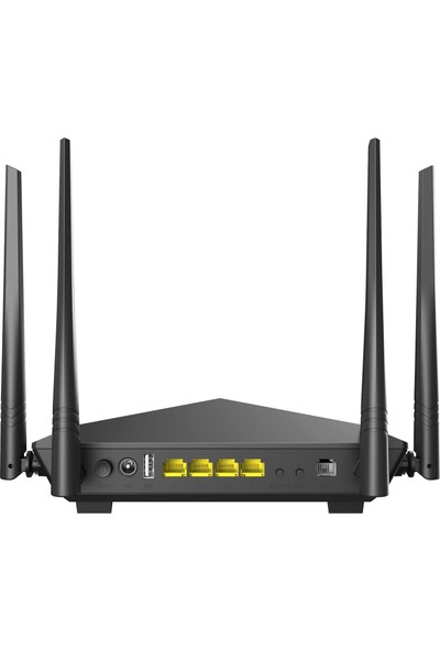 Tenda V12 AC1200 Mbps Dual Band Kablosuz 4 x Gigabit Port Fiber Vdsl/adsl Modem Router ( Super Vdsl Profil 35B)